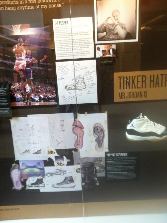 Jordan XI display at the Michael Jordan Building at Nike HQ in Beaverton, Oregon.