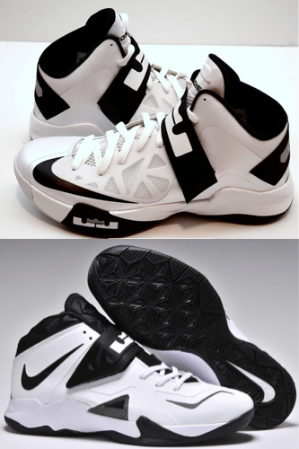 Nike Zoom Soldier 6 and 7 progression. Soldier 6 being the top picture and Soldier 7 below. Nike Basketball updated the Hyperfine upper form the 6 to 7 and utilized straps in the midst area. Both shoes were a big hit among college players and NBA players.