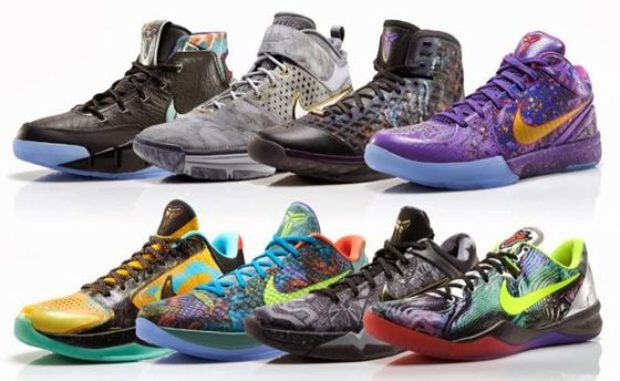 The Kobe Prelude Pack, created by Nike in 2013. The Pack featured Kobe 1 through the Kobe 8, leading up to the launch of the Kobe 9.
